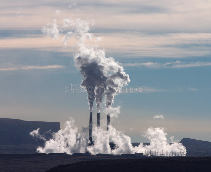 Smoke Stacks stock photography