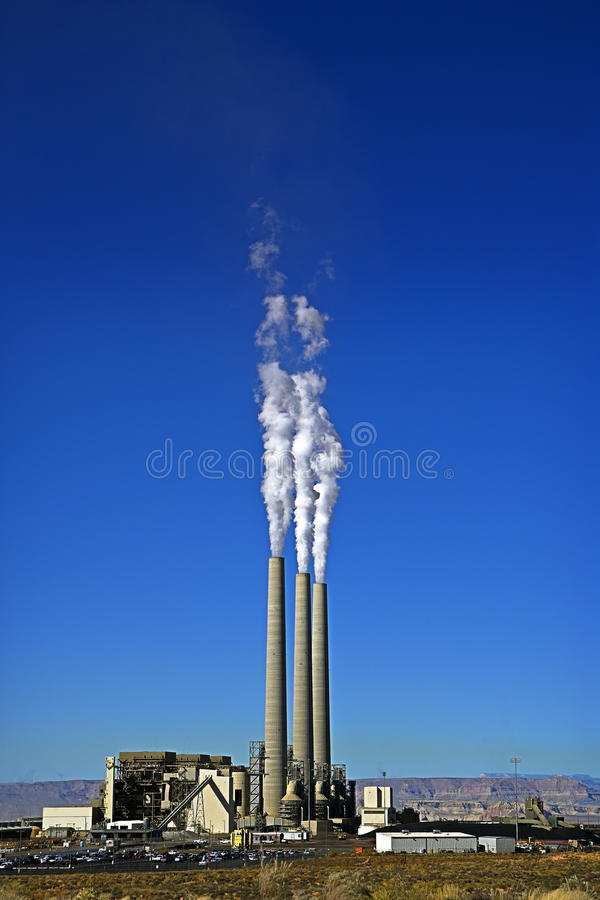 Download Smoke Stacks & Power Plant stock photo. Image of building - 17339498