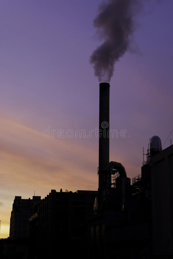 Download Smoke stacks at sunrise stock photo. Image of pollution - 25397292