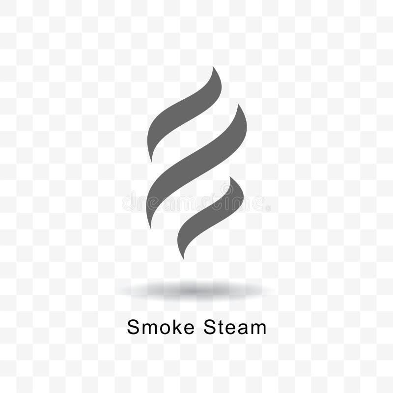 Smoke steam icon. Smoke steam vector icon illustration on transparent background vector illustration