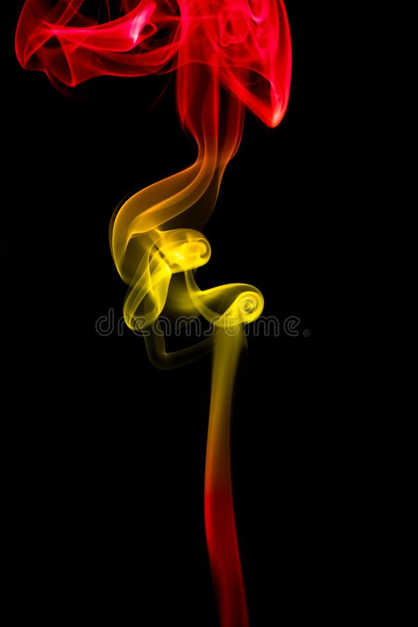 Smoke texture black background graphic resources with Spain colors flag royalty free illustration
