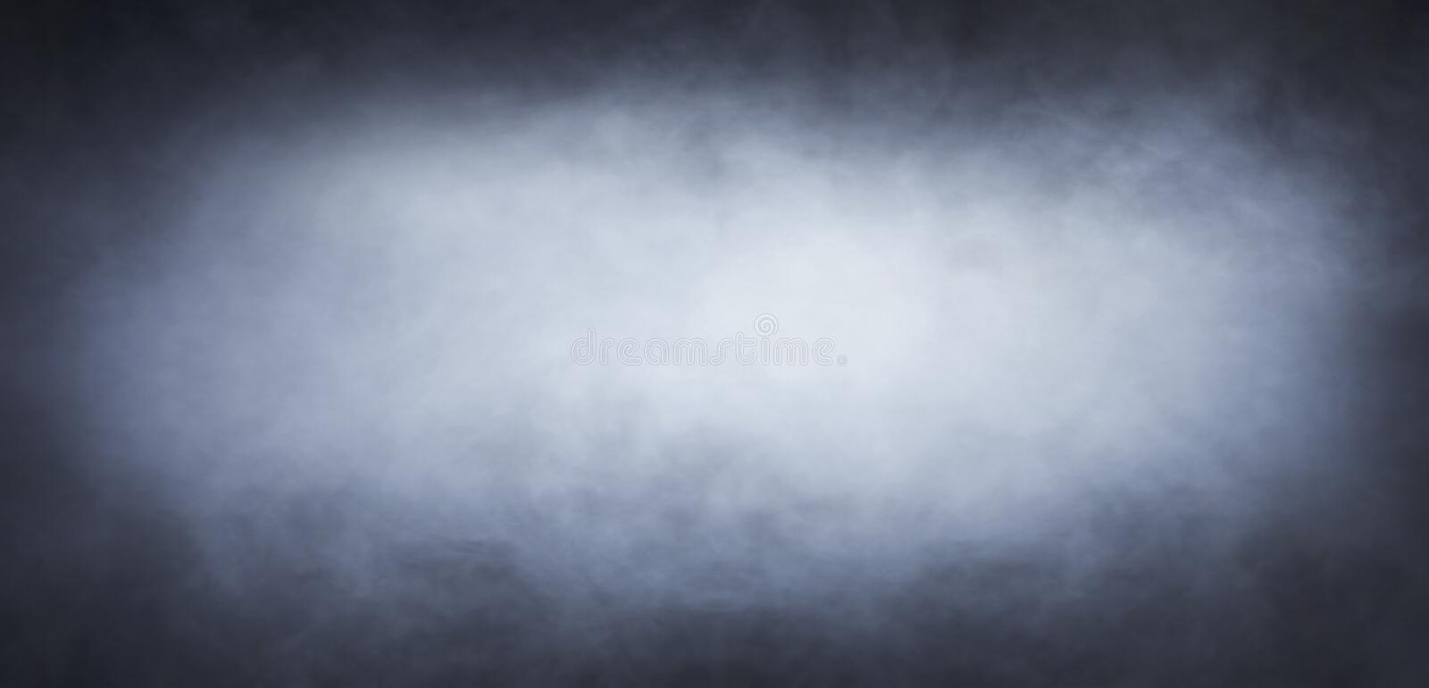 Abstract smoke texture over black background stock image