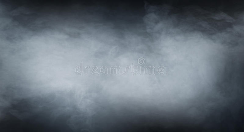 Smoke texture over blank black background.