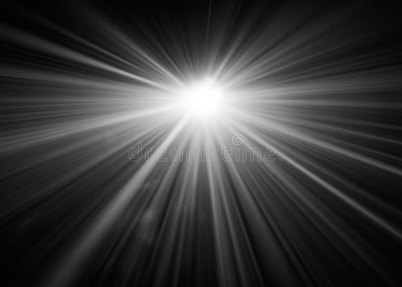 Black and white color . projector beautiful spotlight . wide lens equipment for show presentation at night . smoke abstract royalty free stock images