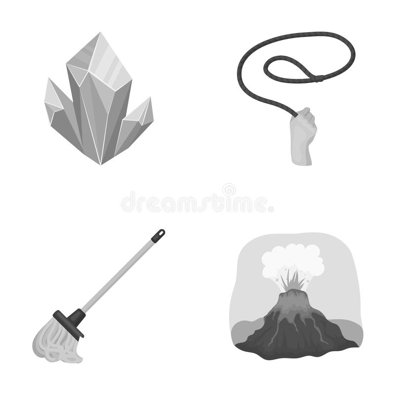 Smoke, tourism, travel and other web icon in monochrome style.cleaning, mountain, volcano, icons in set collection. vector illustration