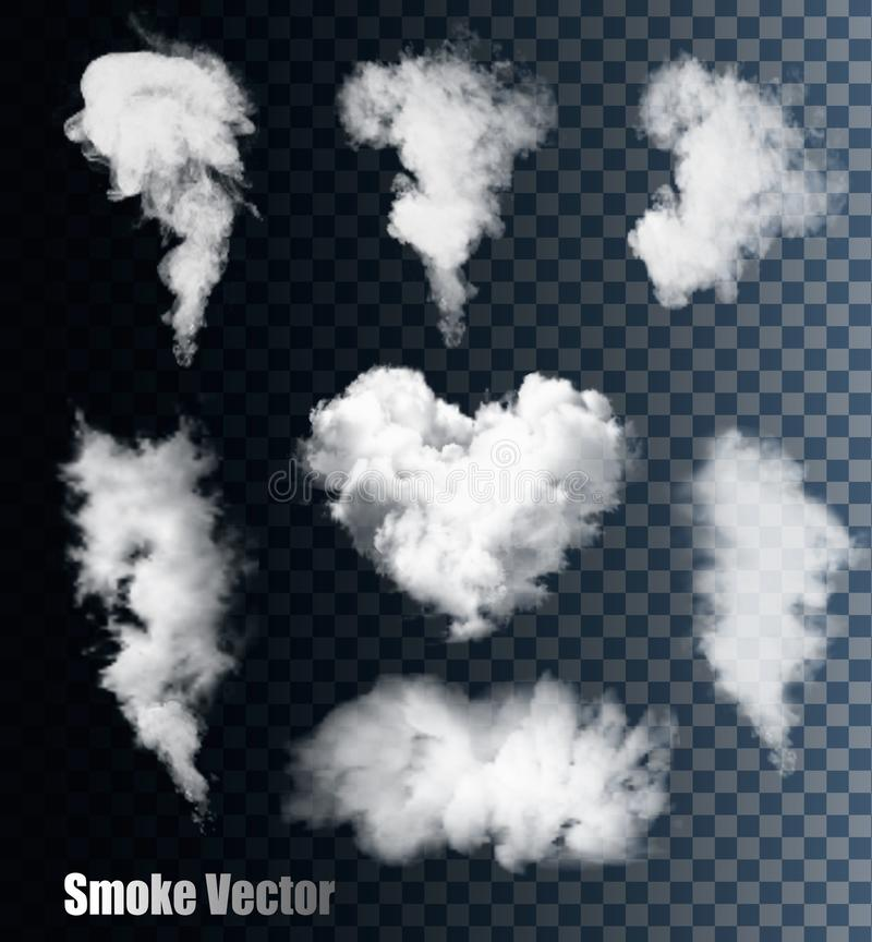 Free Smoke Vectors On Transparent Background. Stock Photo - 55516570