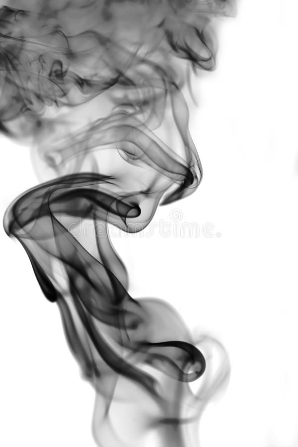 Smoke on white background royalty free stock photo