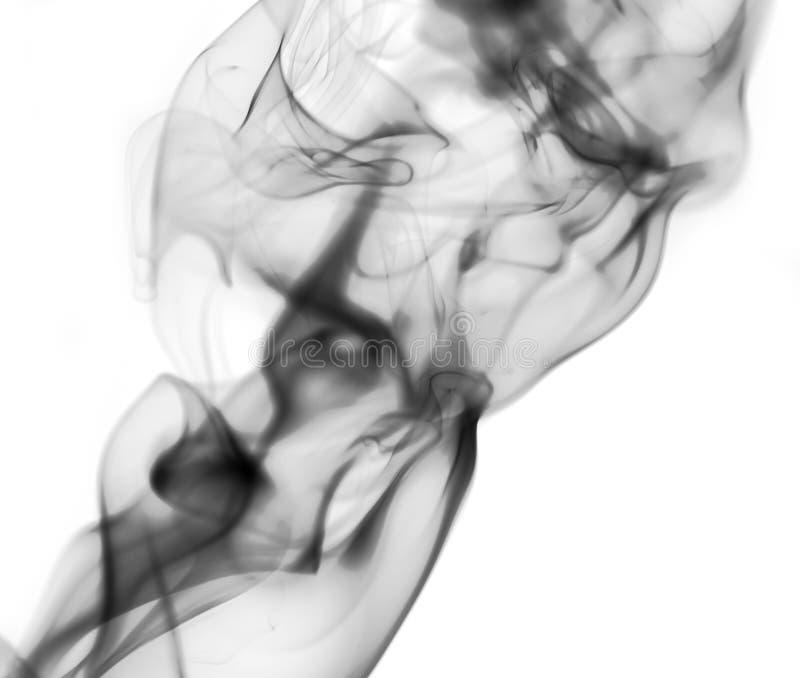 Smoke on white background royalty free stock image