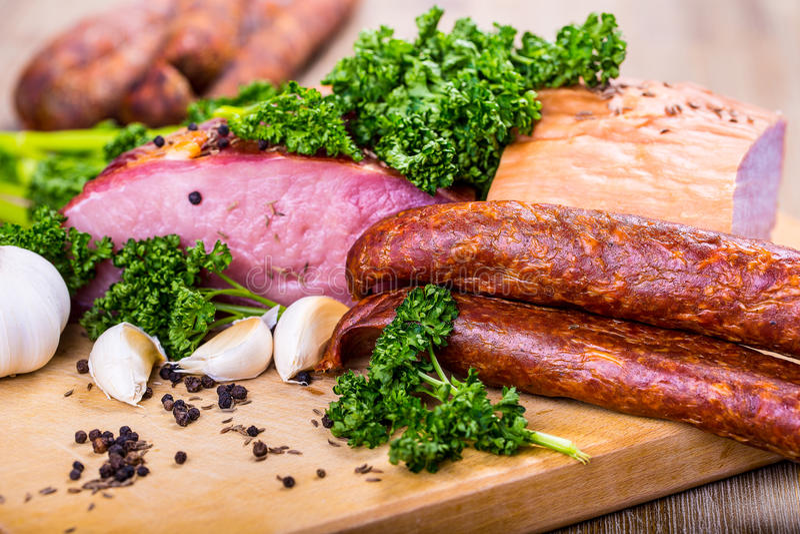 Download Smoked Bacon stock image. Image of foodstuff, daniele - 39952497