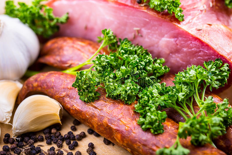 Download Smoked Bacon stock image. Image of cumin, cooking, crispy - 39952677
