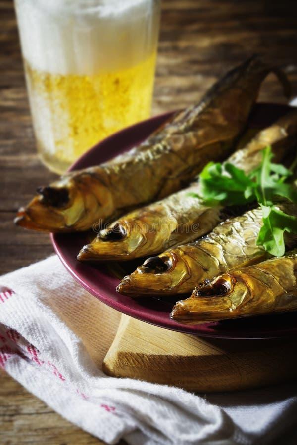Smoked baltic herring royalty free stock photos