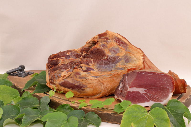 Smoked black forest ham royalty free stock photos