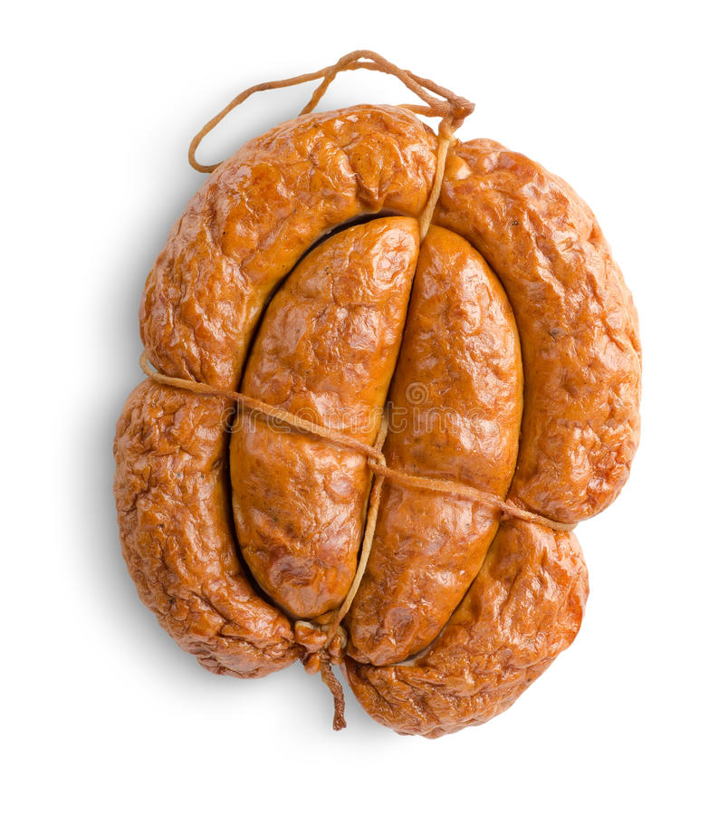 Download Smoked Bunch Sausage Isolated Stock Photo - Image: 26624500