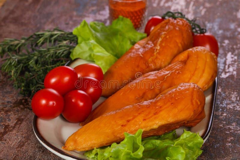 Smoked Chicken breast stock photo