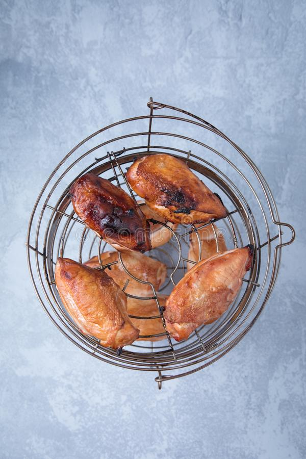 Smoked Chicken Breasts royalty free stock image