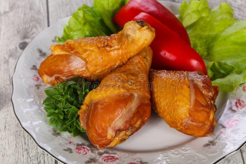 Smoked Chicken legs stock photo