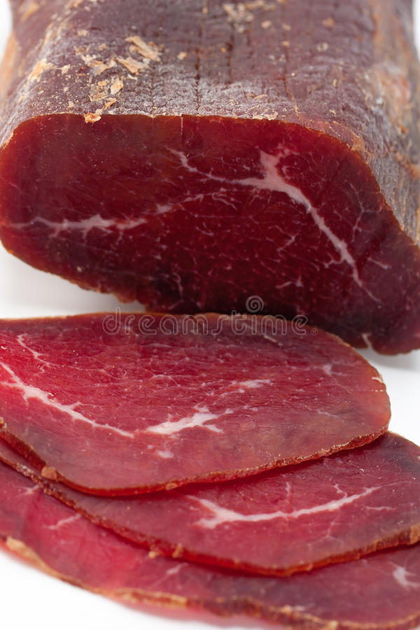 Smoked Dried Beef royalty free stock image