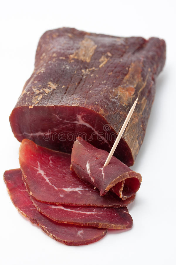 Smoked Dried Beef royalty free stock photography