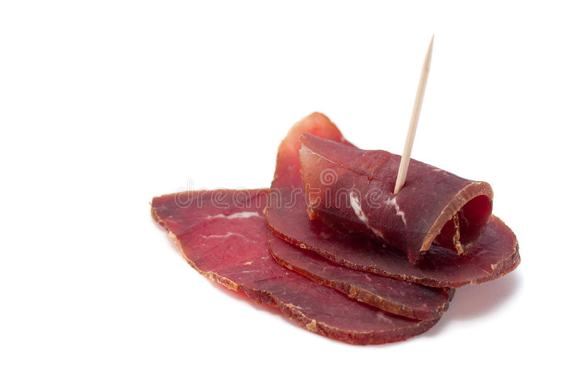 Smoked Dried Beef royalty free stock photo