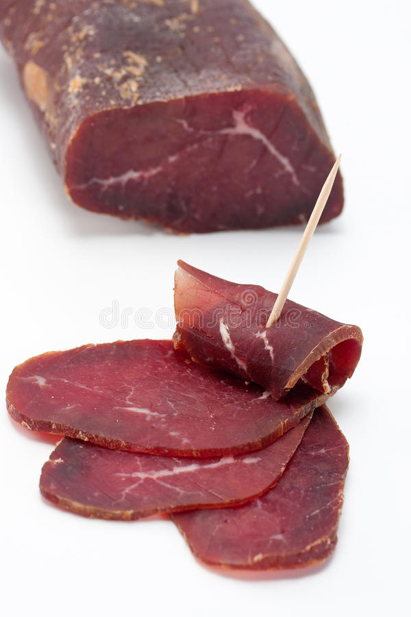 Smoked Dried Beef royalty free stock photos