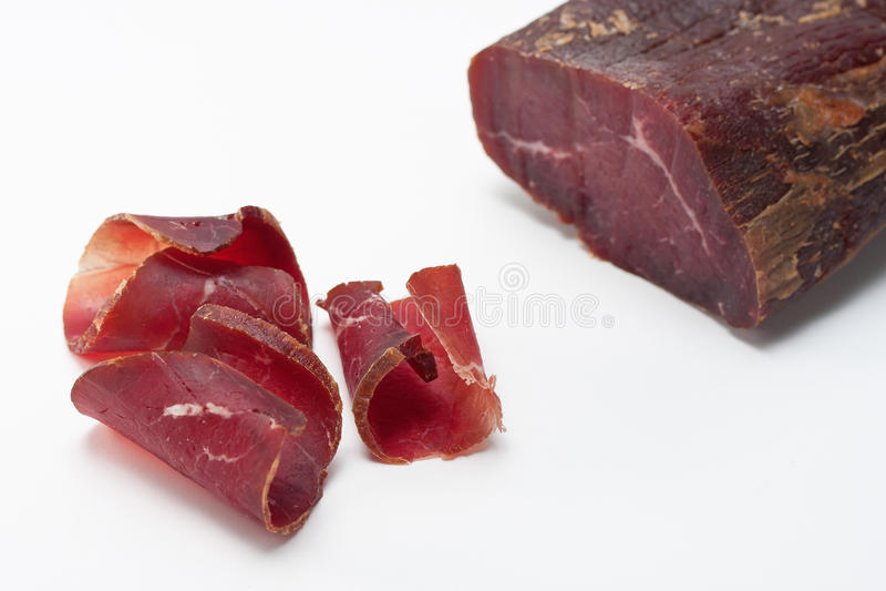 Smoked Dried Beef stock photo