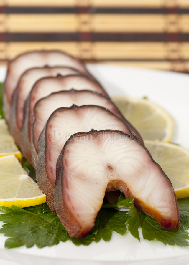 Smoked eel stock photography