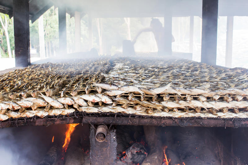 Smoked fish from fishing village food industry at krabi thailand. This is smoked fish from fishing village food industry at krabi thailand stock photography