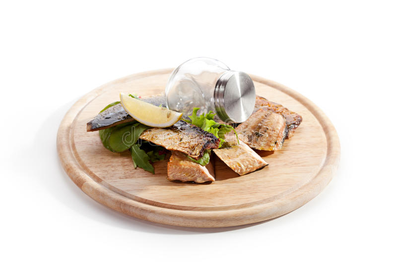 Smoked Fish royalty free stock images