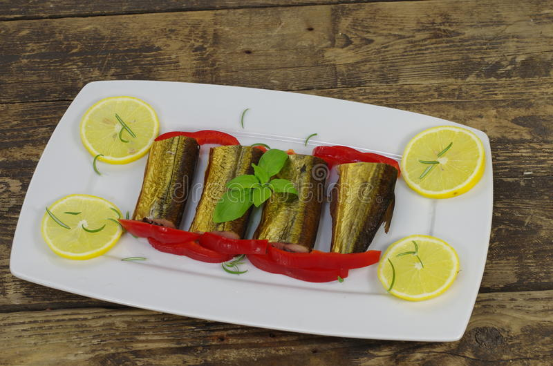 Smoked fish stock images