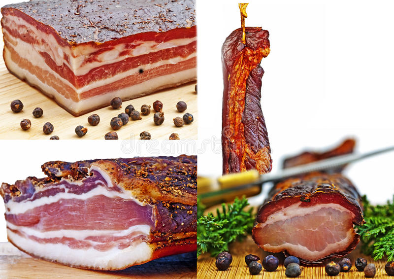 Smoked ham of the Black Forest royalty free stock images