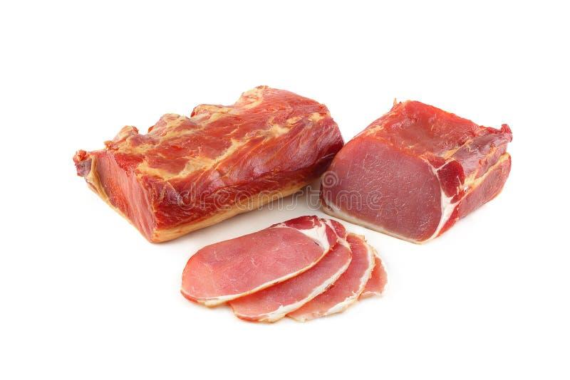 Ham on a white background royalty free stock photos