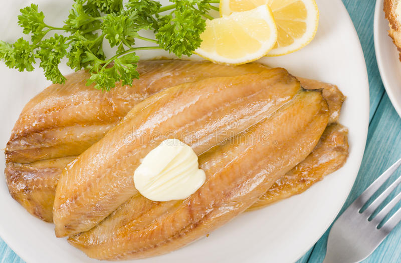 Smoked Kippers Stock Photography