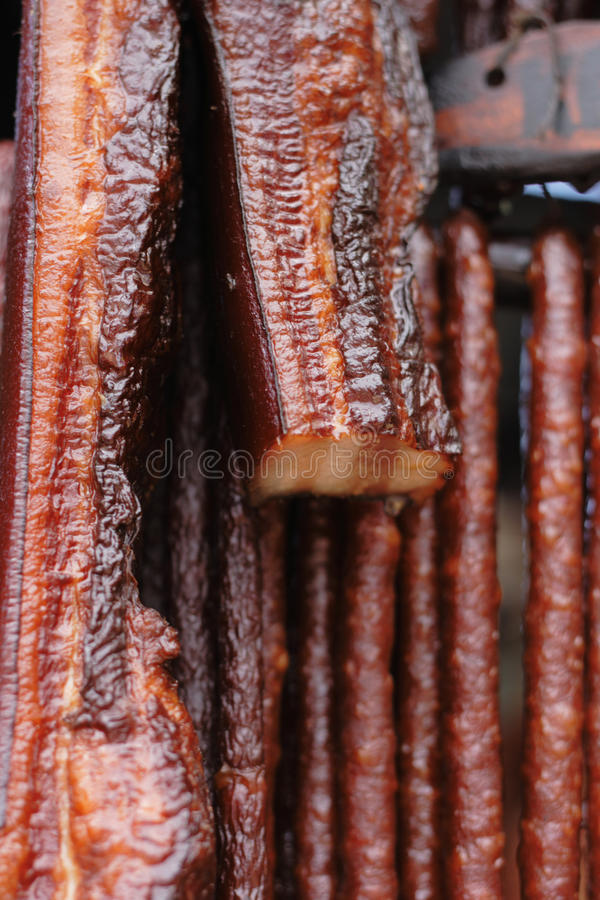Smoked meat background. Smoked meat as very nice food background royalty free stock image