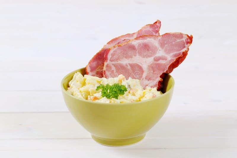 Download Smoked Pork With Potato Salad Stock Photo - Image: 83708511