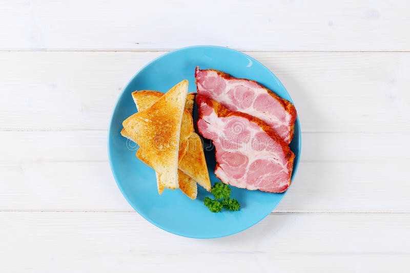 Download Smoked Pork With Toasts Stock Photo - Image: 83708647