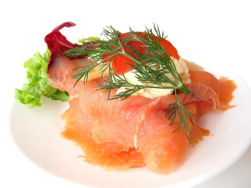 Download Smoked salmon stock photo. Image of pink, isolated, horizontal - 10428574