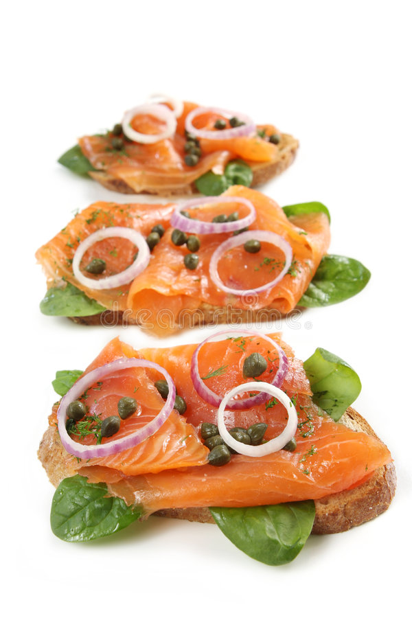 Smoked Salmon Appetizer Royalty Free Stock Photo