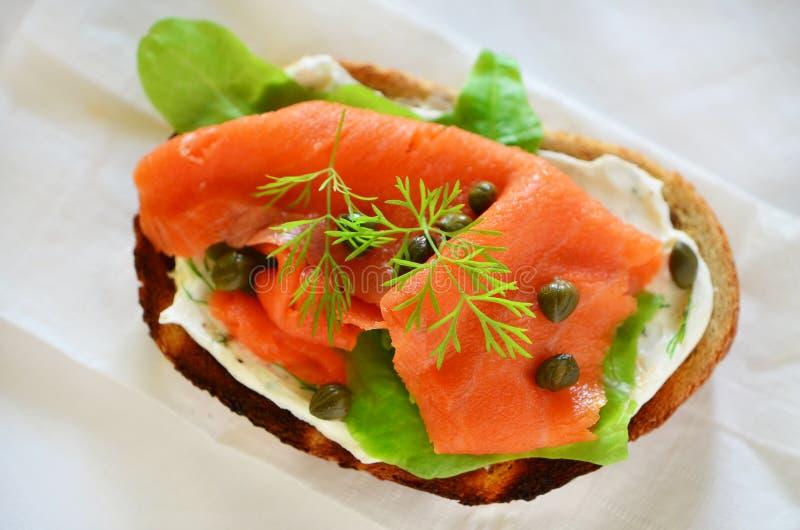 Download Smoked salmon appetizer stock image. Image of smoked - 41398815