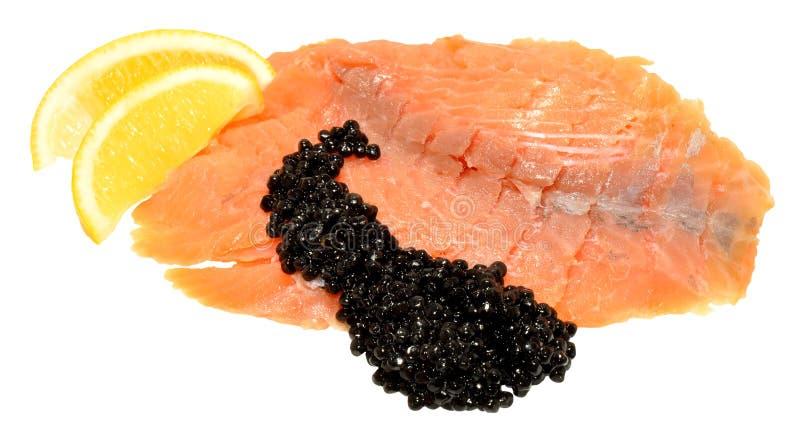 Smoked Salmon And Caviar royalty free stock photo