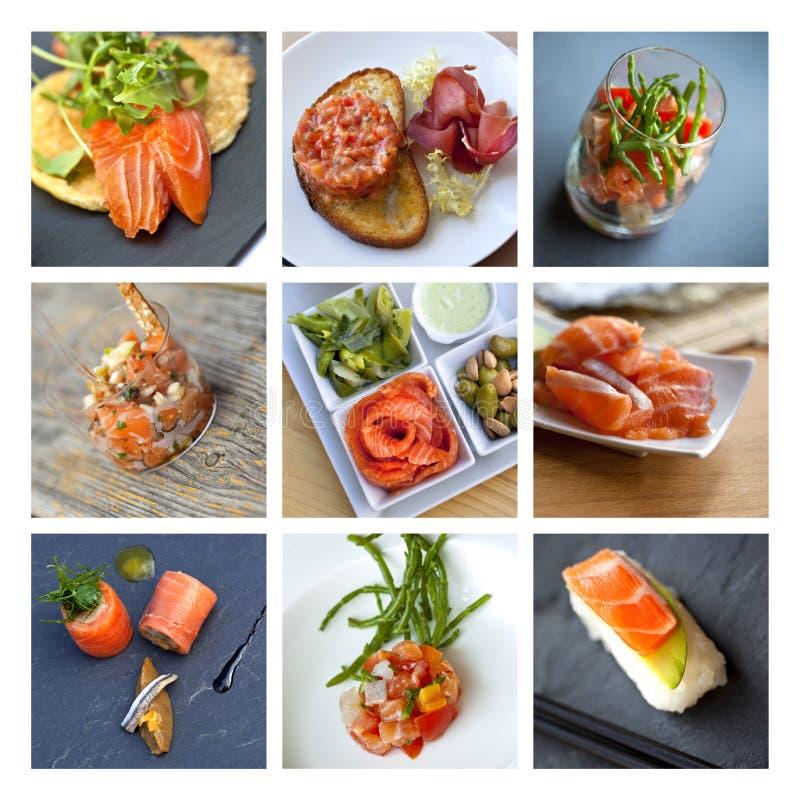 Free Smoked Salmon Collage Stock Photos - 40150853