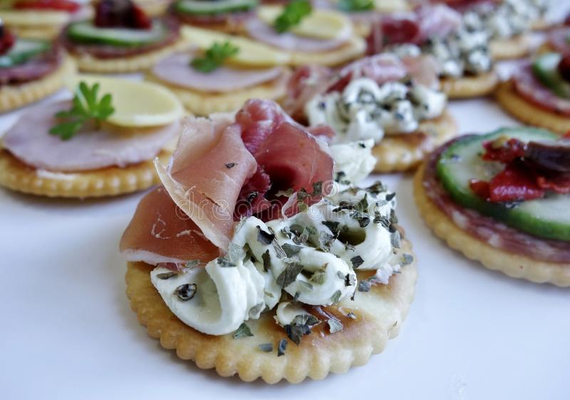 Download Smoked Salmon And Cream Cheese Canape. Stock Photo - Image of canapés, plate: 40360960