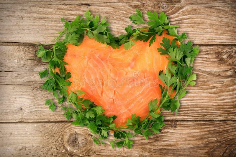Smoked salmon royalty free stock photos