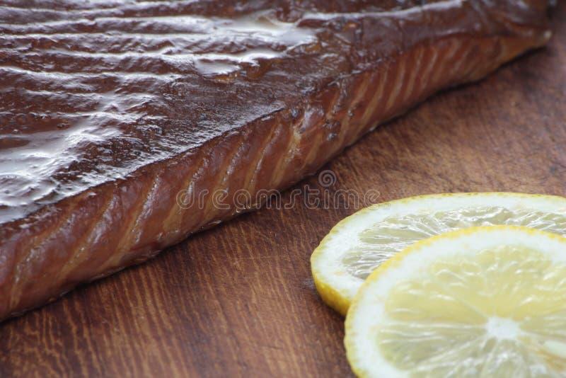 Smoked salmon. stock photography