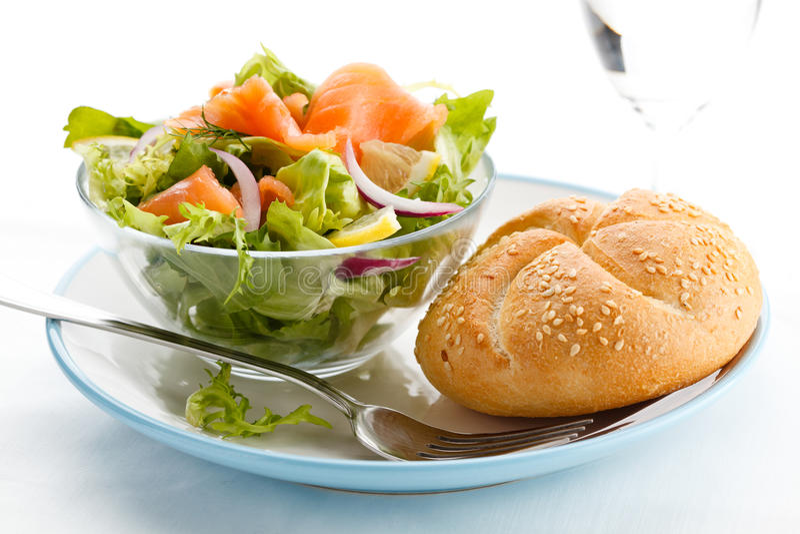 Download Smoked Salmon Salad Stock Photos - Image: 19470213