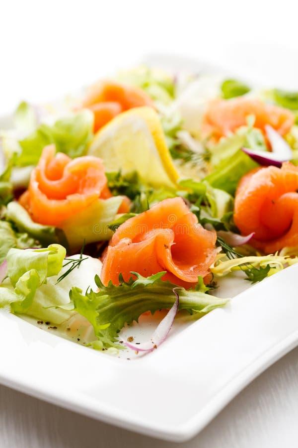 Smoked Salmon Salad Stock Photos