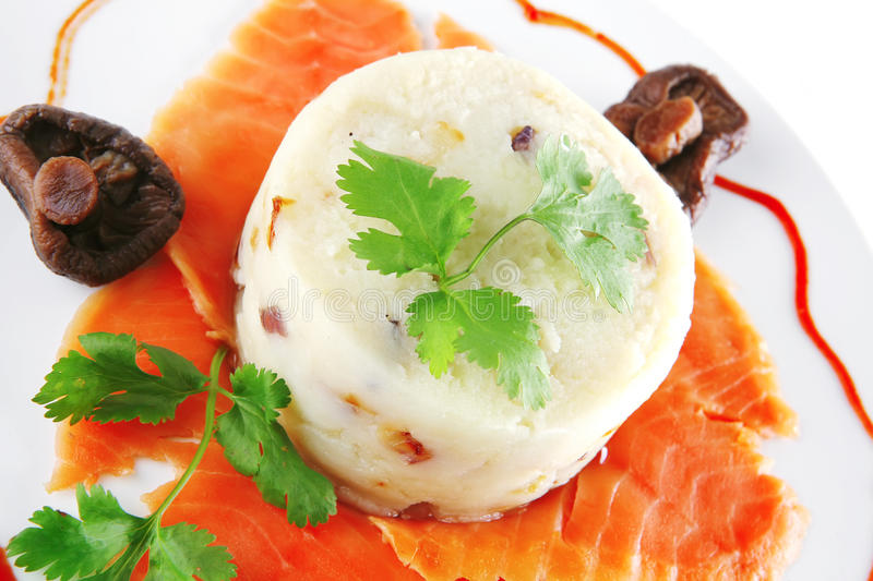 Download Smoked Salmon Slices On Plate Stock Image - Image: 15067805