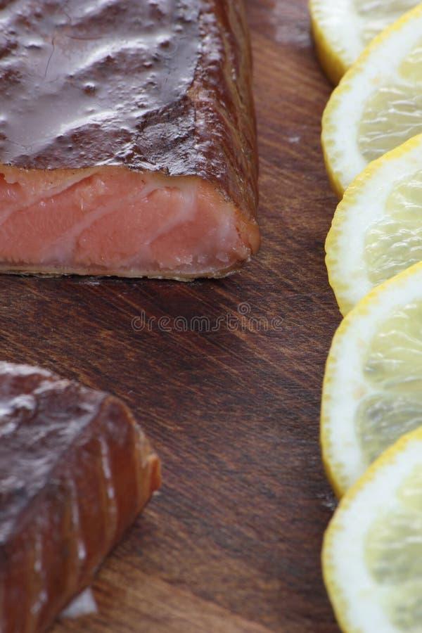 Smoked salmon. royalty free stock photography