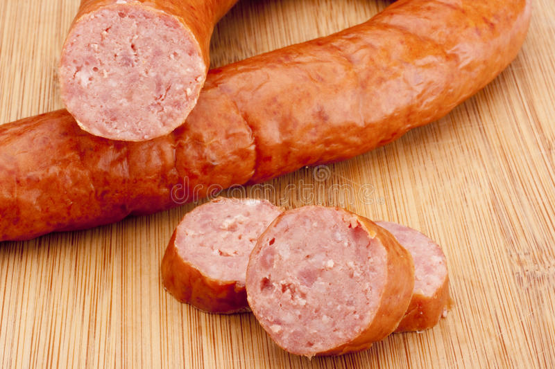 Download Smoked sausage stock photo. Image of board, food, meat - 17181578