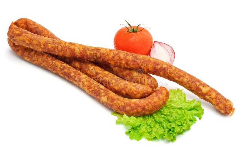 Download Smoked sausage stock image. Image of butcher, pork, tomato - 26168873
