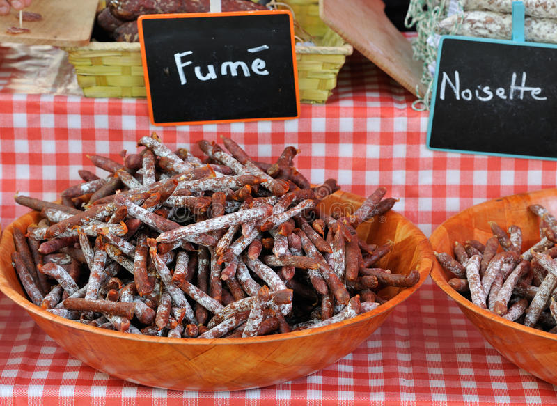 Download Smoked Saussage At Provence Market In France Stock Photo - Image: 21364410